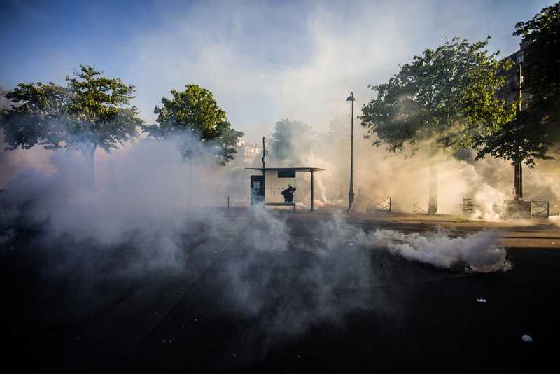 Affrontements CRS Nation 1er mai