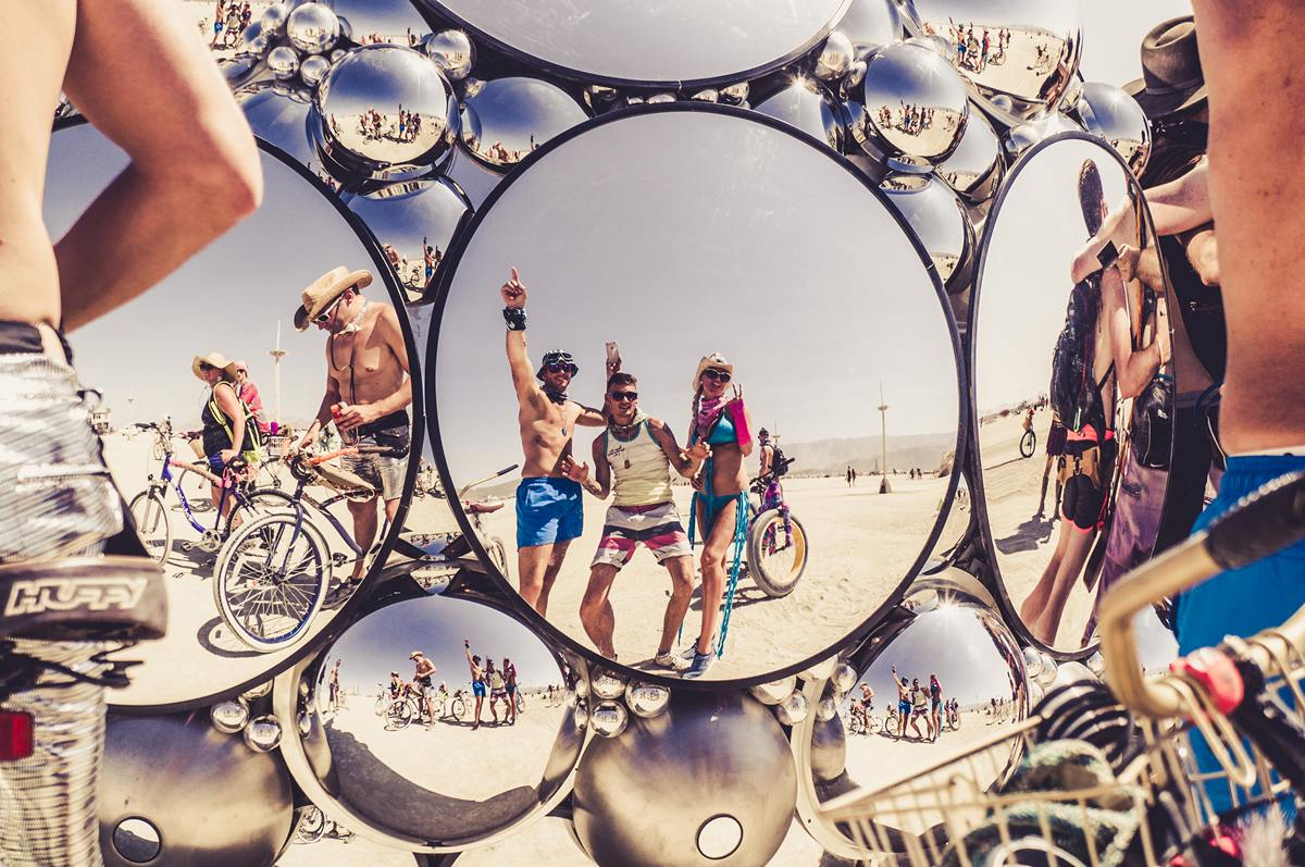 Burning Man - People in the mirror