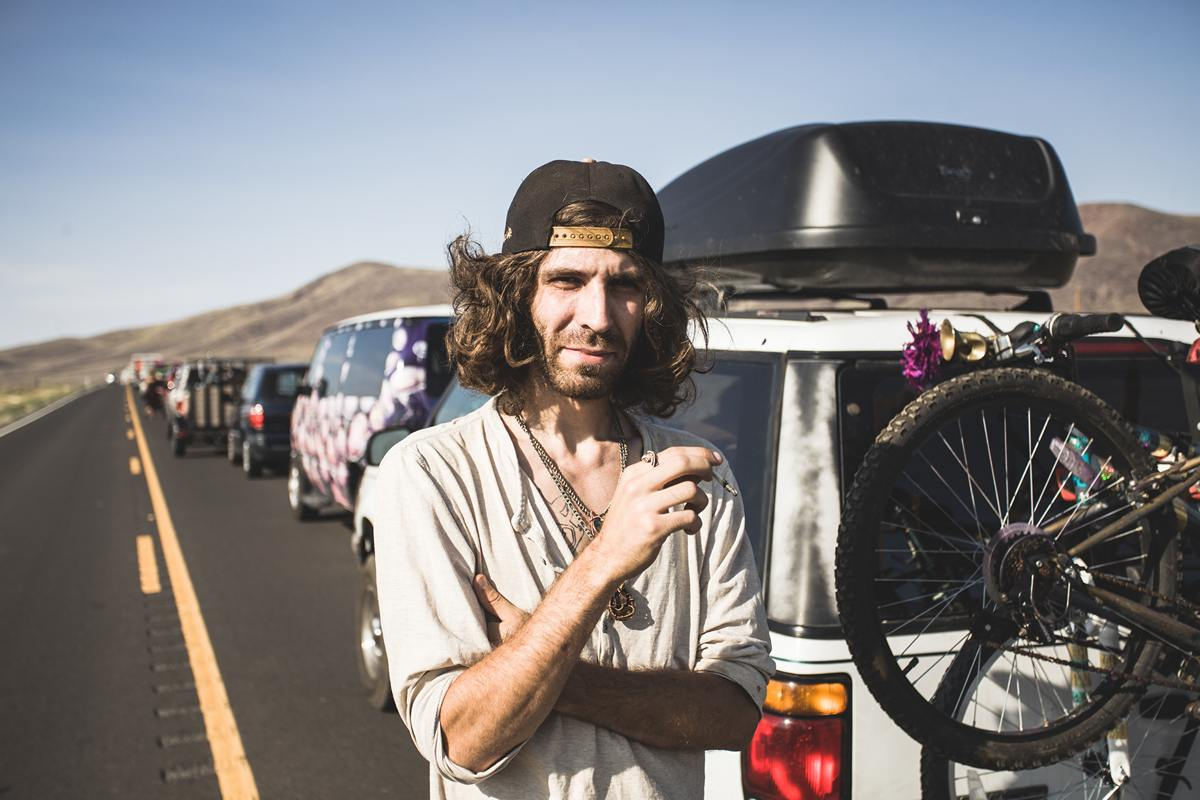 Burning Man - First guy I met and first portrait I made when I wen out of the car