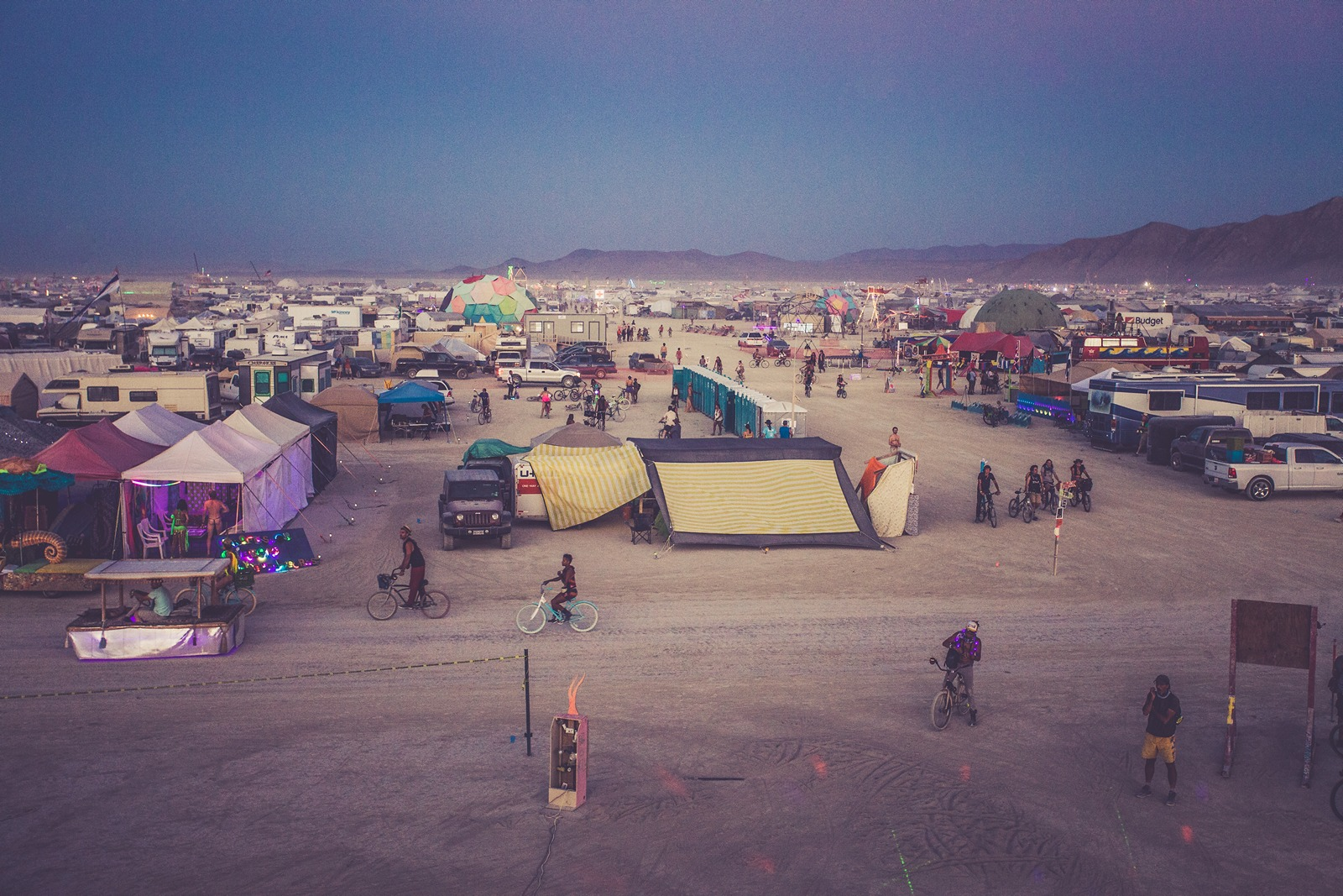 Burning Man - The night starts