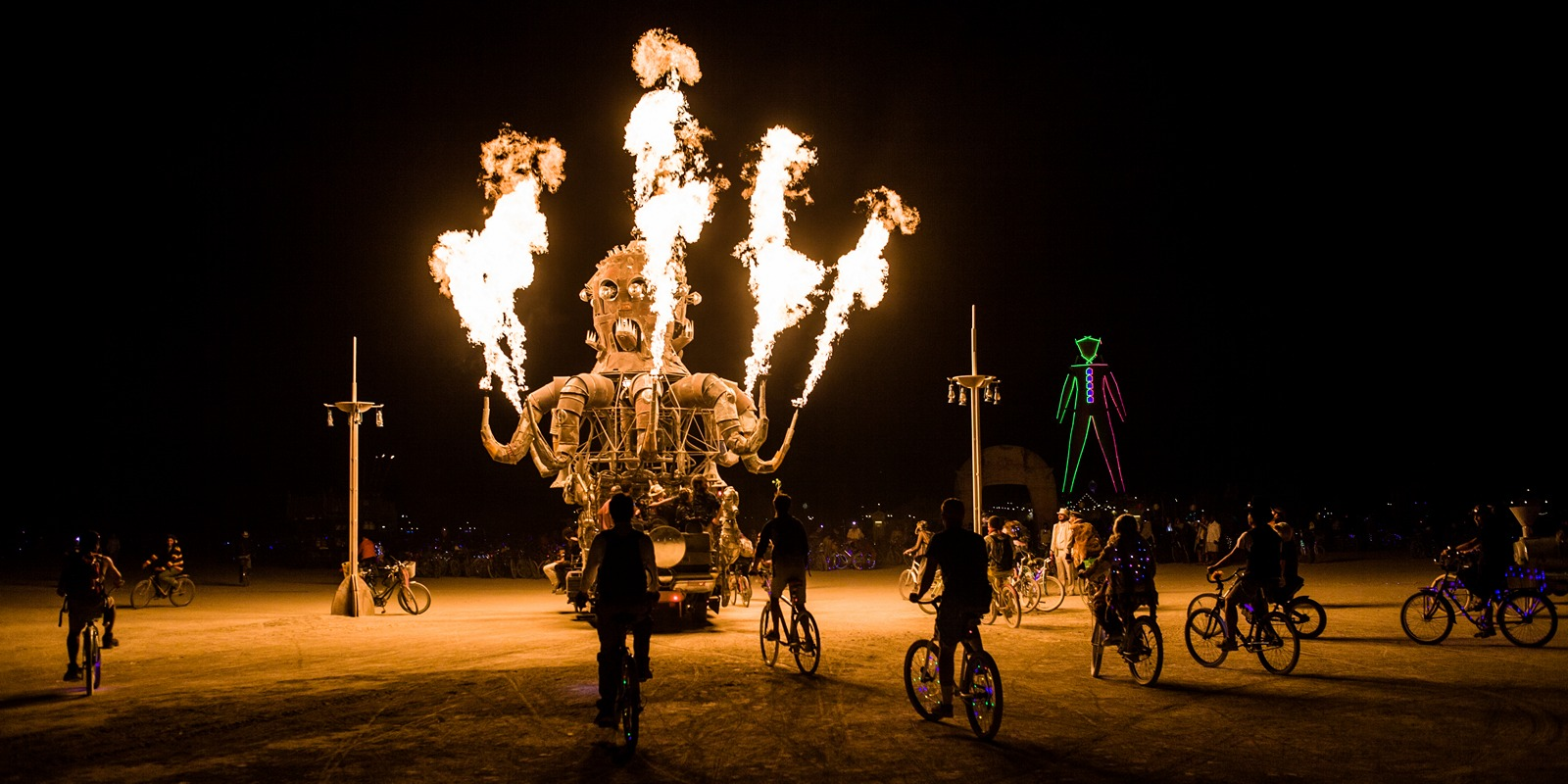 Burning Man - El pulpo mecanico