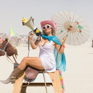 Burning Man - Wood horse