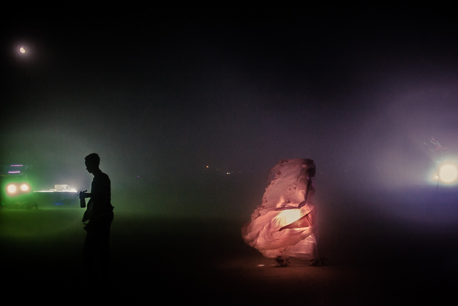 Burning Man - Ghost in the night sandstorm