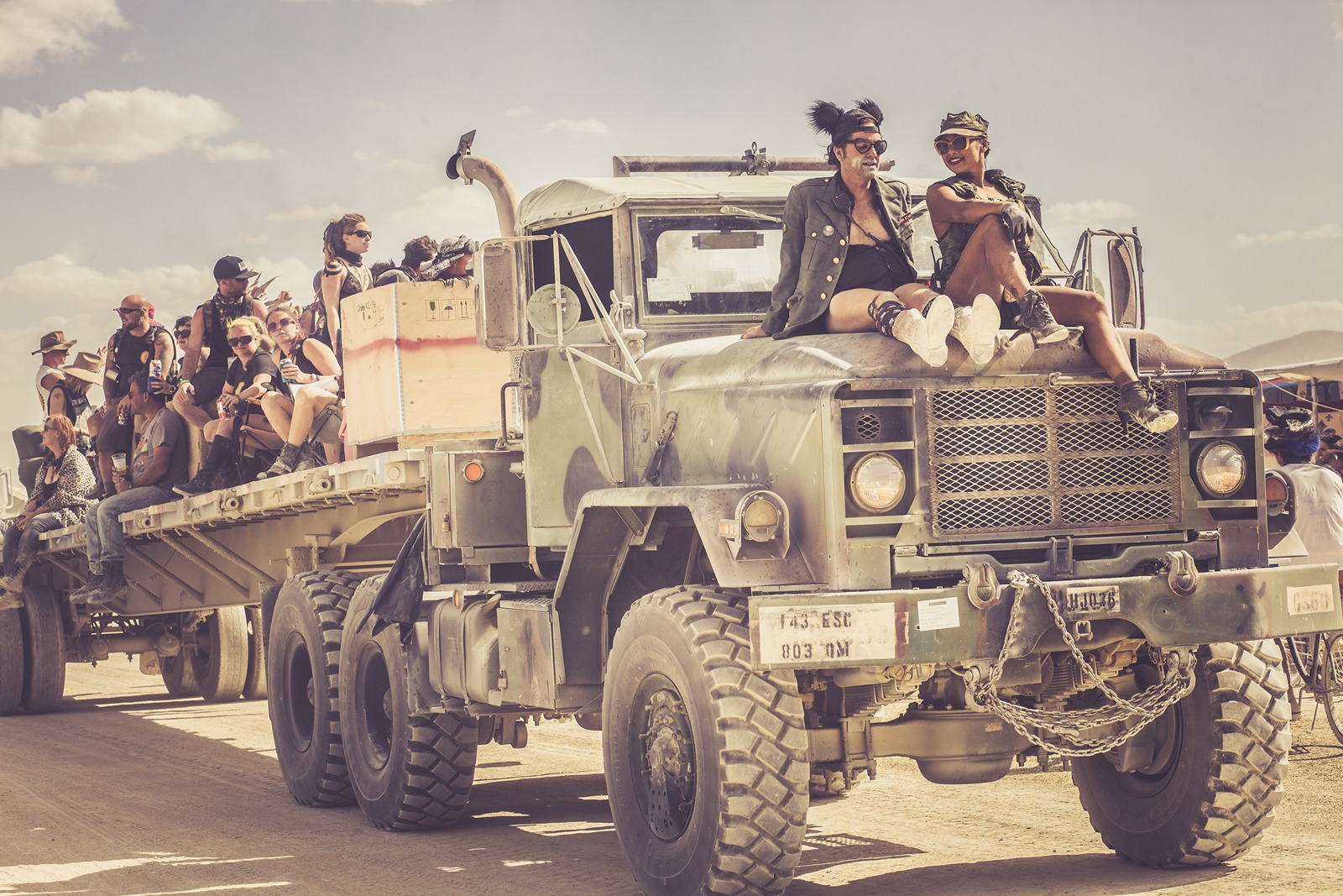 Burning Man - Military truck