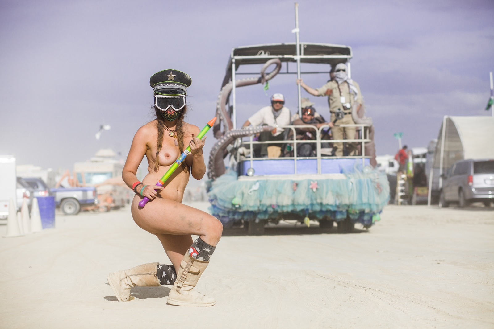 Burning Man - Squirt gun girl