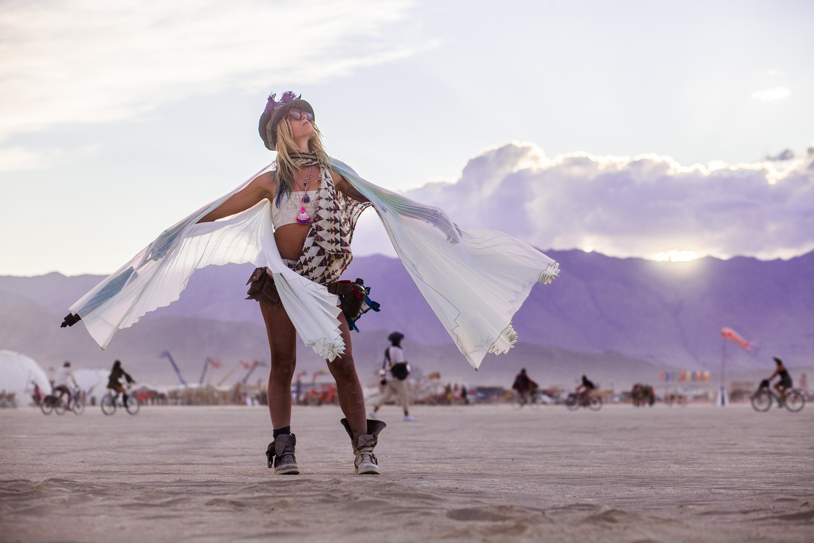 Burning Man - Burner on the playa