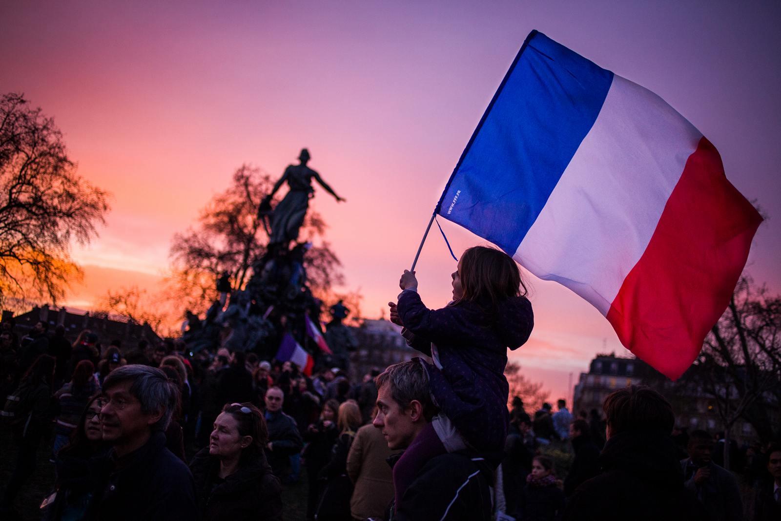 Je suis Charlie 11 janvier 2015 place de la Nation Paris