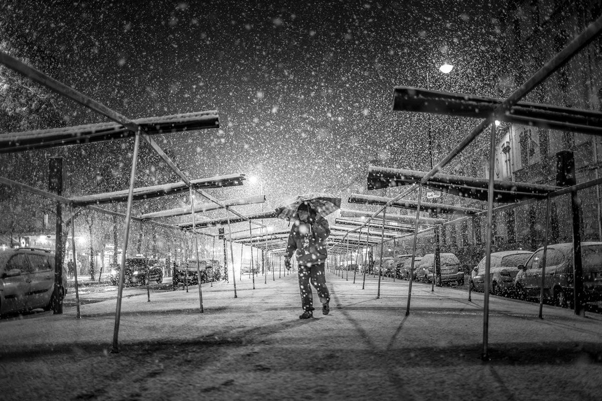 Photo neige Paris Rémi Jaouen Photographe