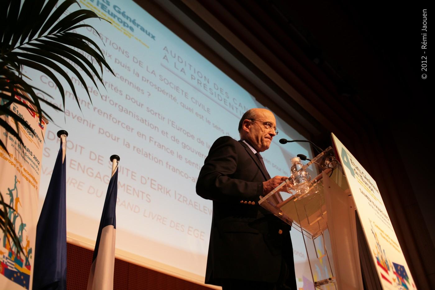 Alain Juppé États Généraux de l'Europe Rémi Jaouen Reportage photo Politique Corporate