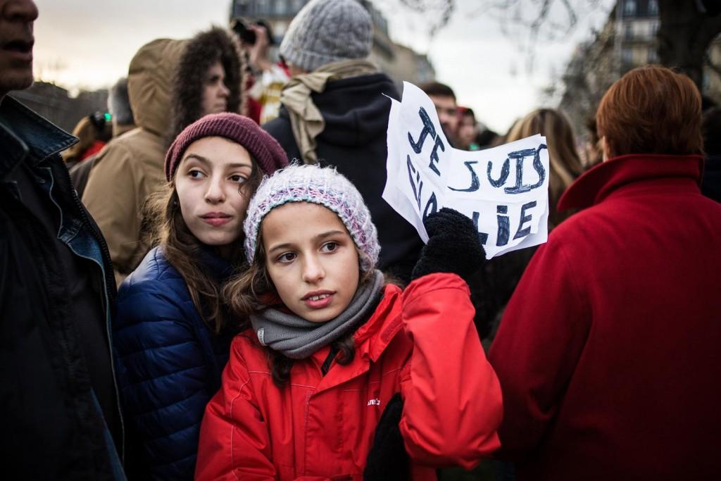 """Portraits des """"Charlies"""" - Je suis Charlie 11 janvier 2015 place de la Nation Paris"""