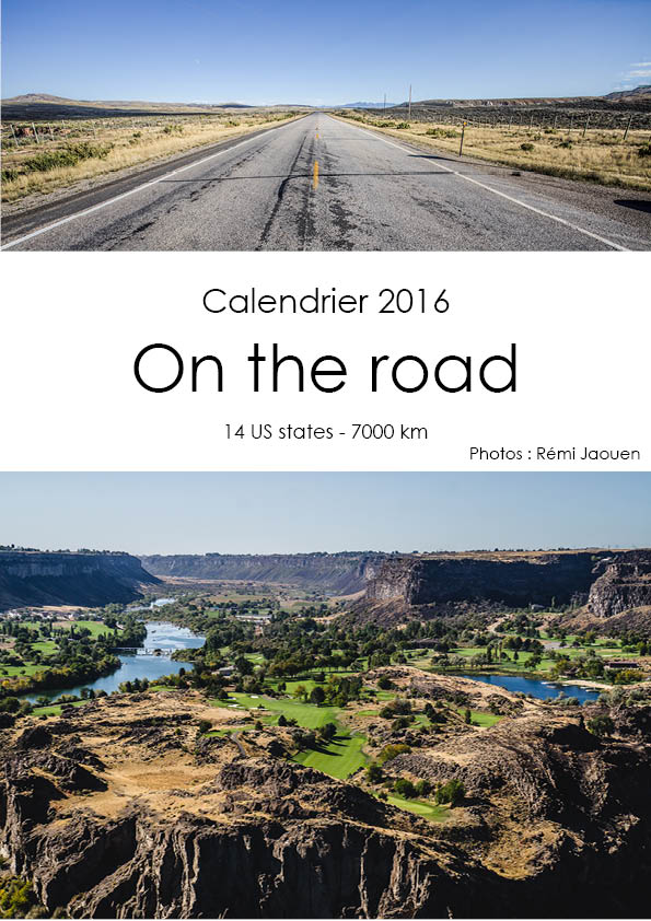 calendrier Road Trip 2016 Remi Jaouen photographe
