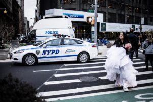 Poster New York Manhattan 5th avenue the bride is lost