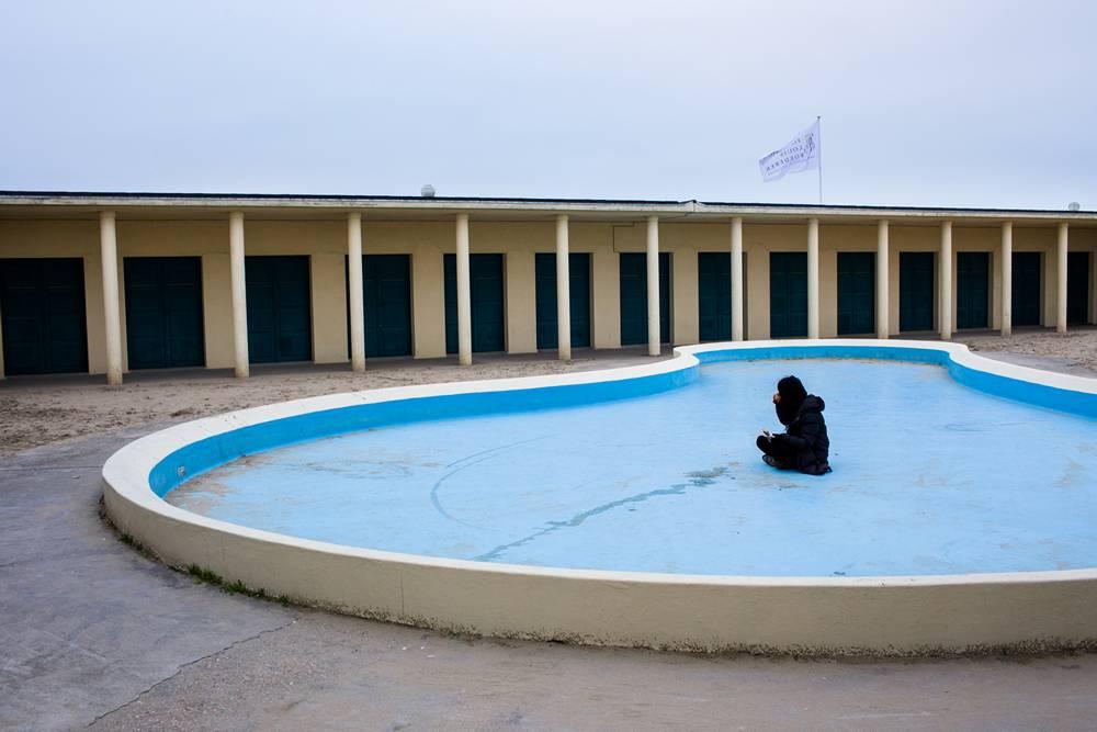 Deauville trouville d but d 39 hiver for Piscine trouville