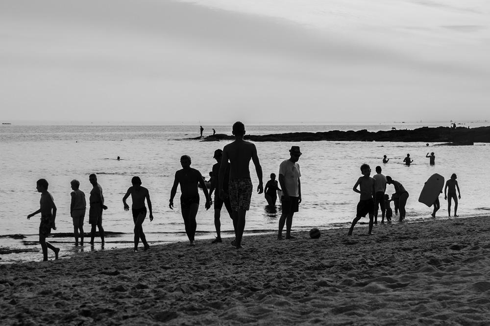 Photo Bretagne silhouettes plage Rémi Jaouen