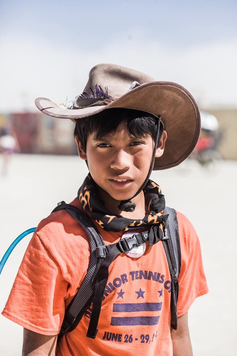 Burning Man - The boy