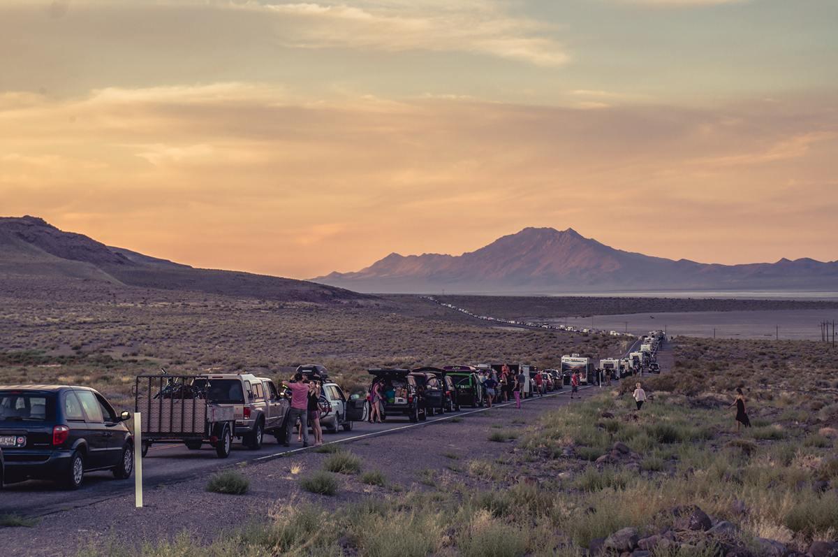 Burning Man - First traffic jams