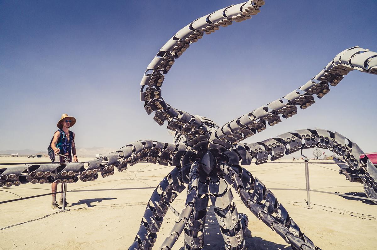 Burning Man - The octopus