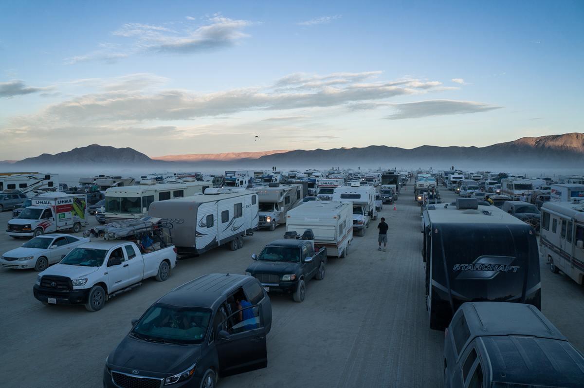 Burning Man - Last traffic jam