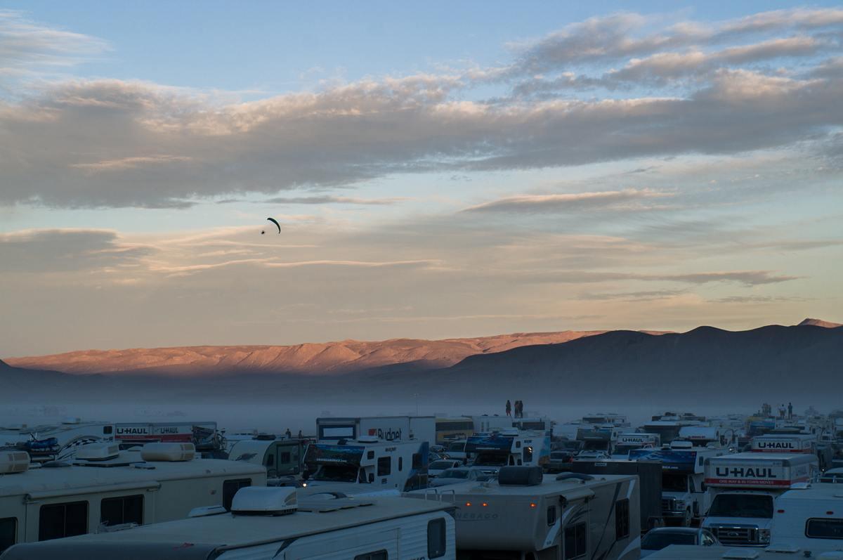 Burning Man - Last traffic jam 2