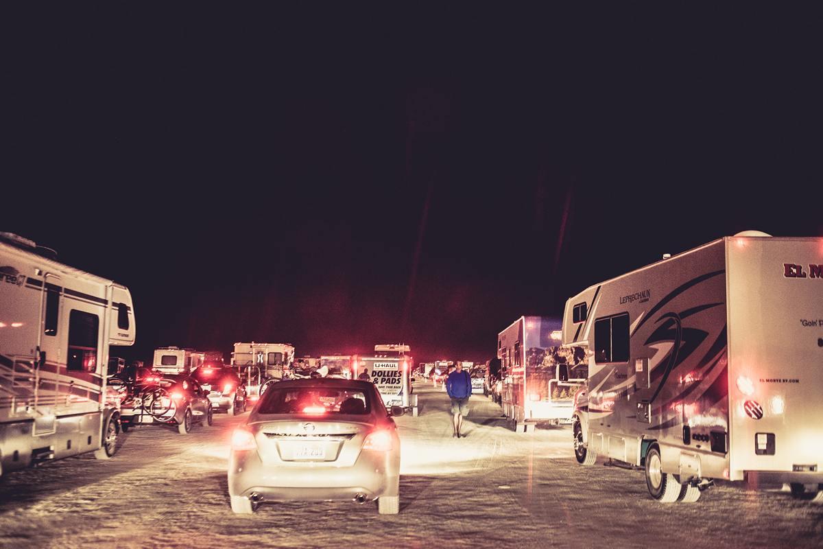 Burning Man - End of the traffic jam