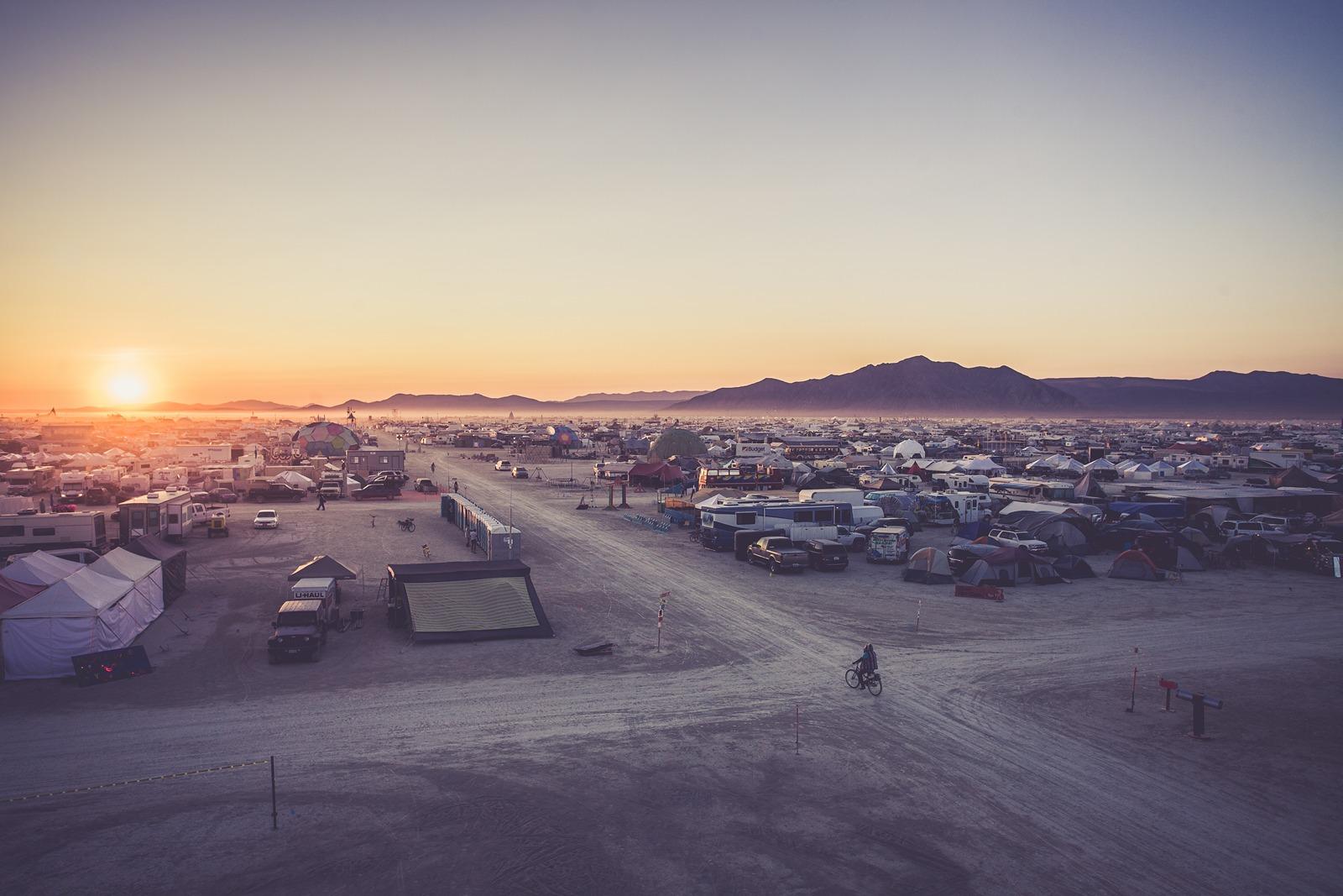 Burning Man - First rising sun