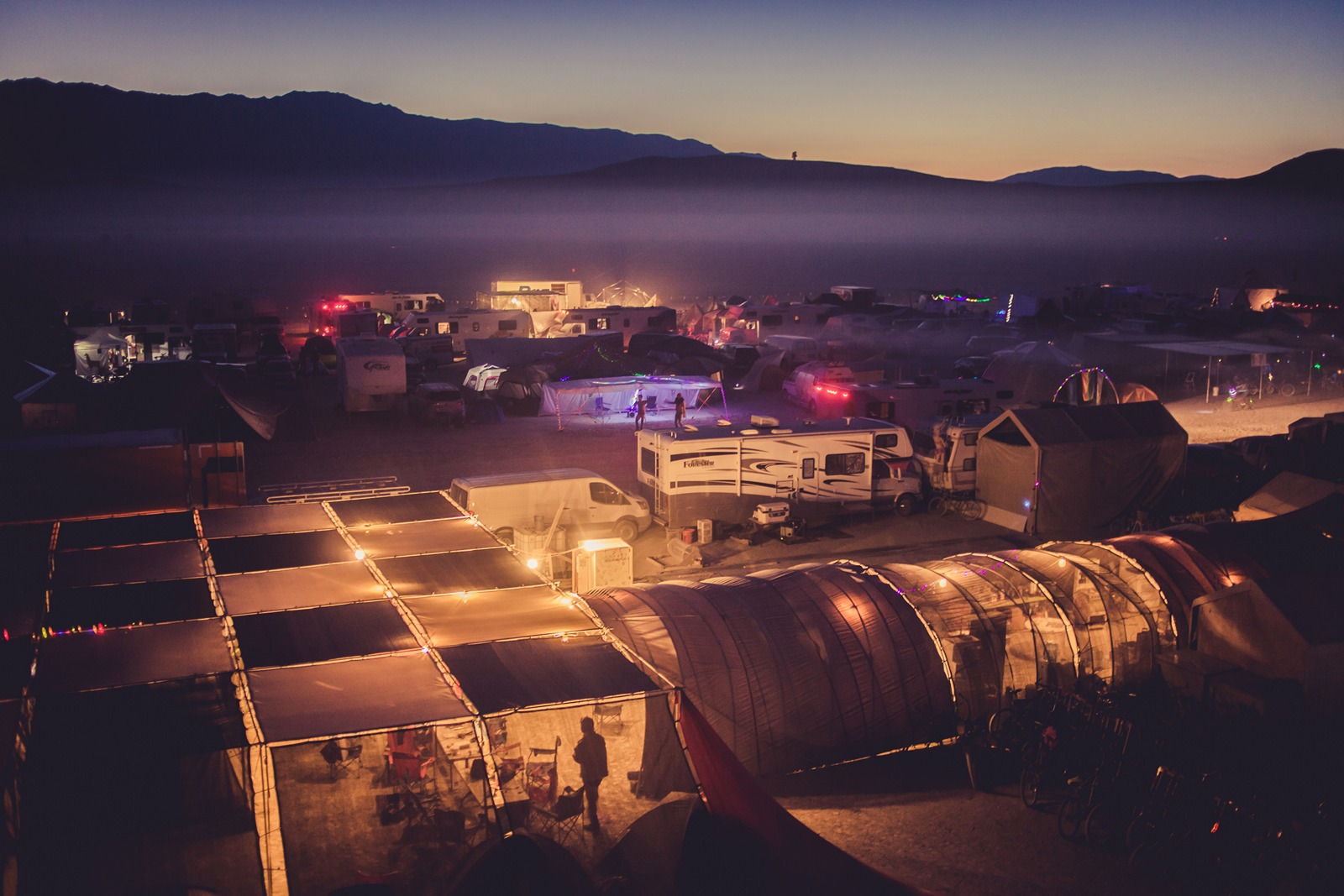 Burning Man - Do-more-now camp the night
