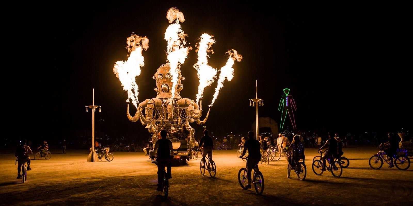 Burning Man - El pulpo mecanico