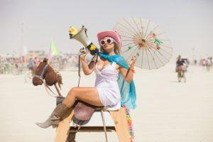 Burning Man - Wood horse