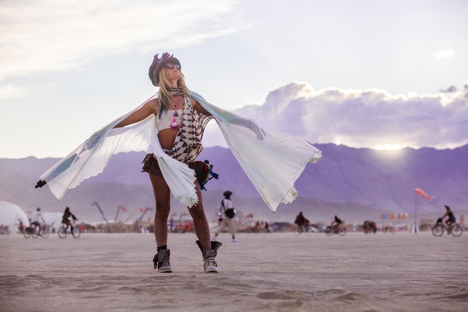 Burning Man - Burner on the playa
