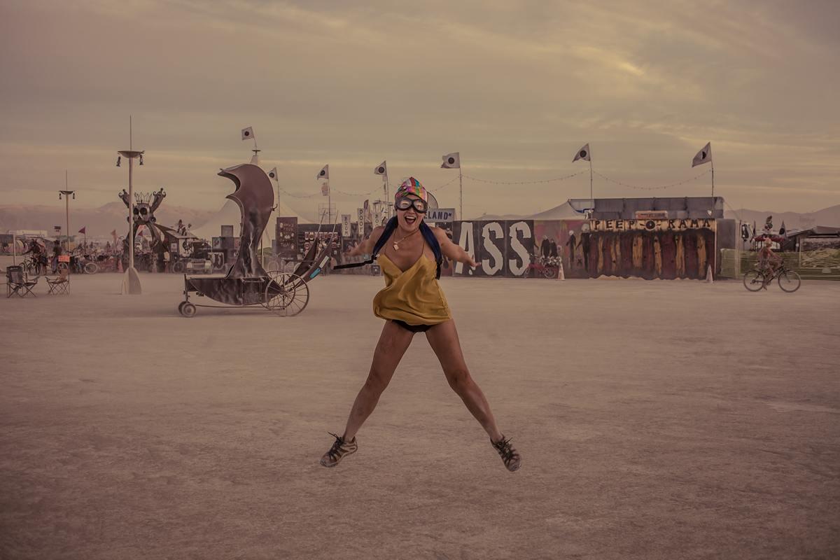 Burning Man - Jumping