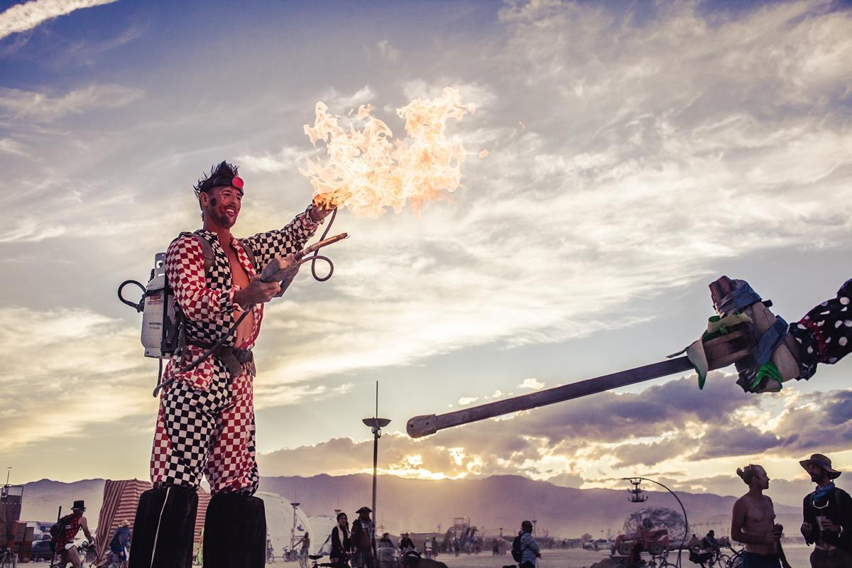 Burning Man - Fire clown