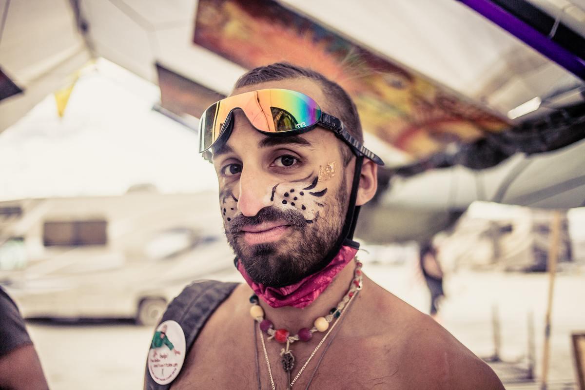 Burning Man - Cat face