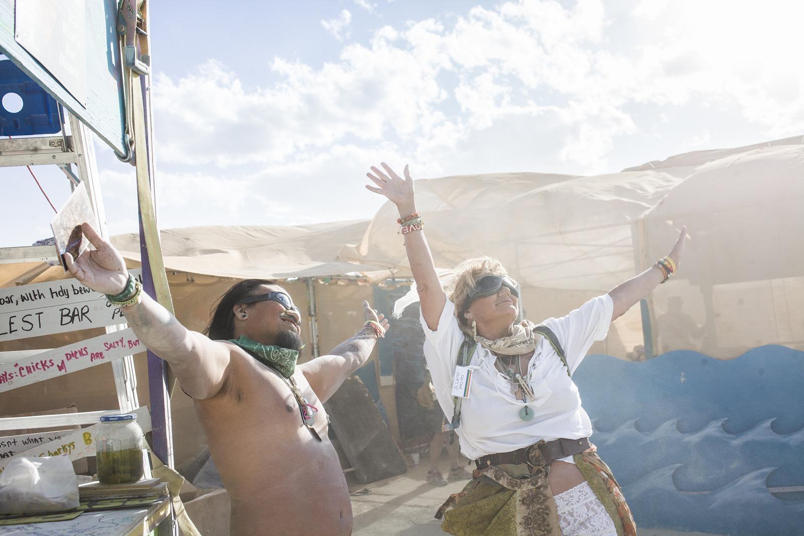 Burning Man - Enjoying the sandstorm