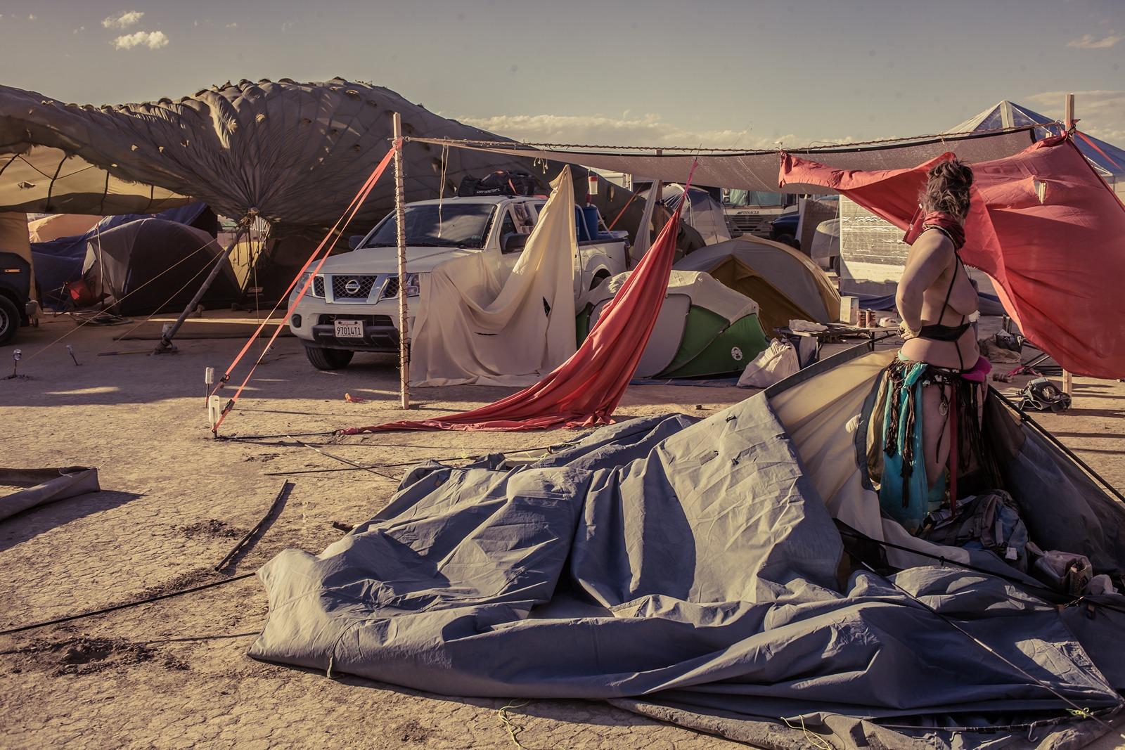 Burning Man - The wind wins