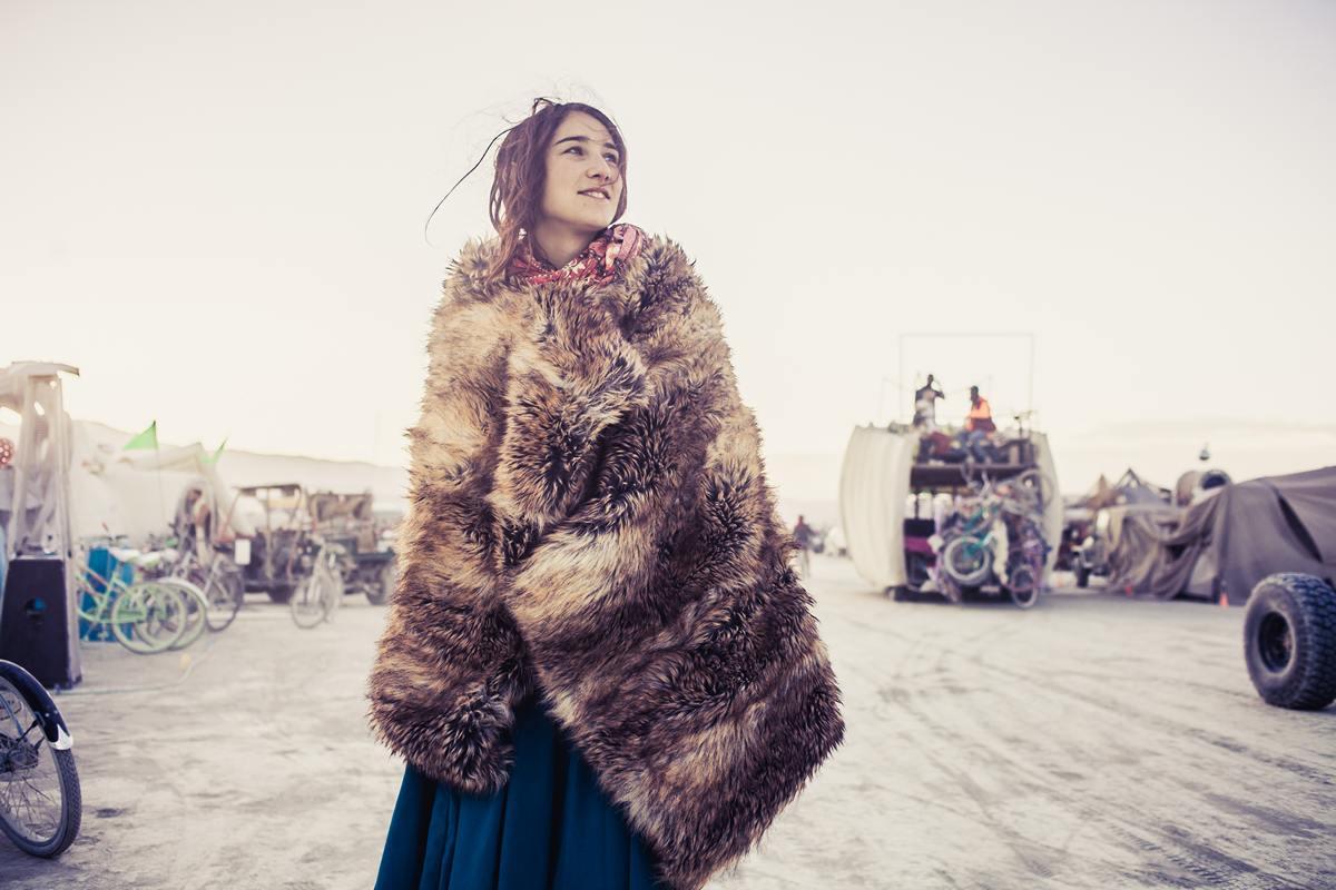 Burning Man - The french girl