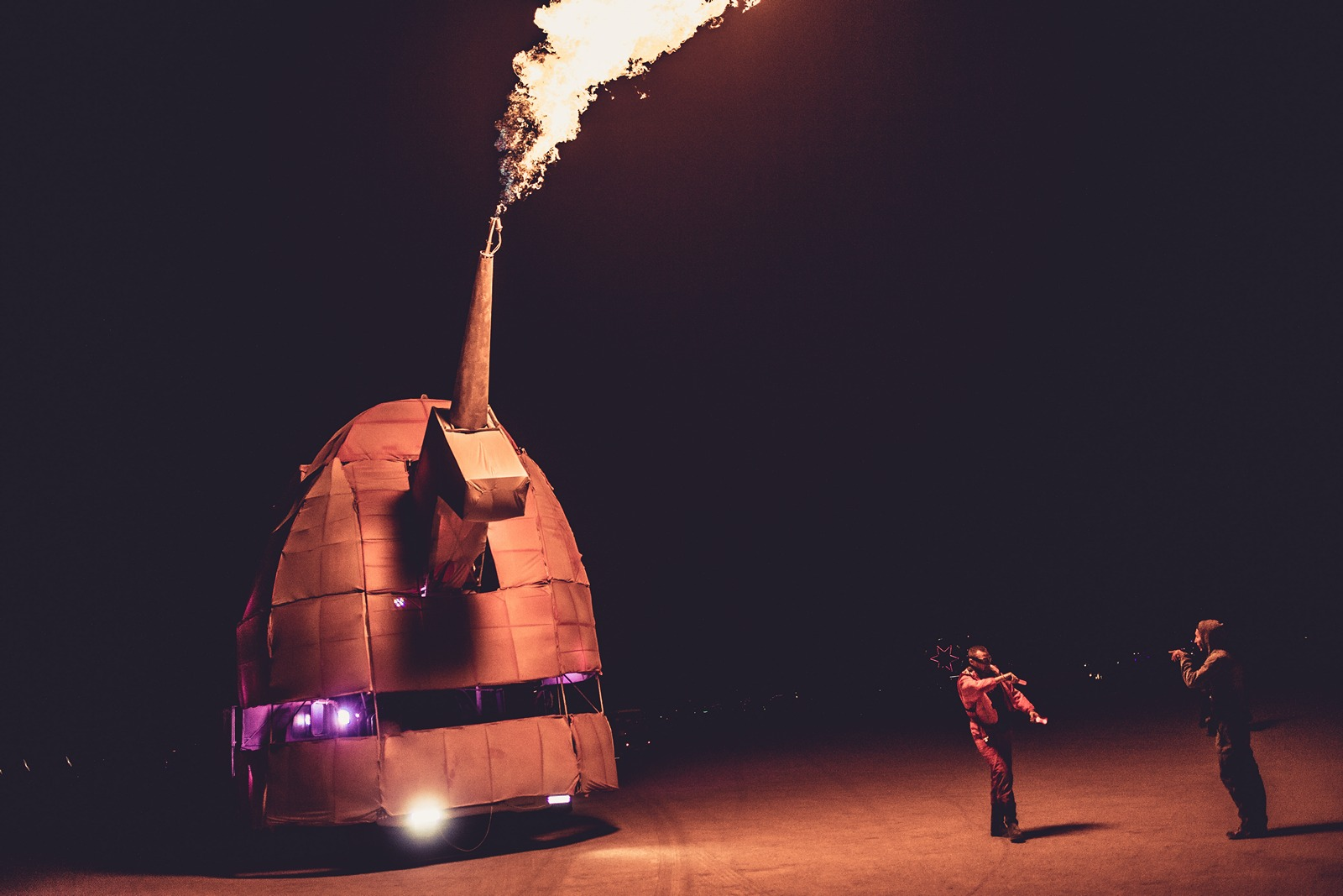 Burning Man - Blowing fire