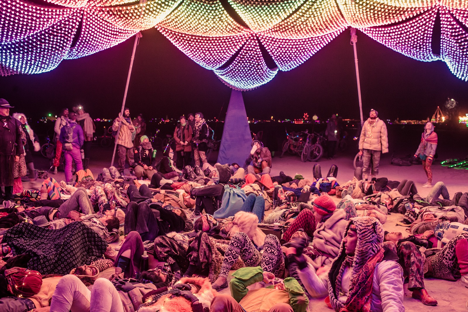 Burning Man - Relaxing watching changing lights