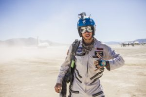 Burning Man - American skydiver