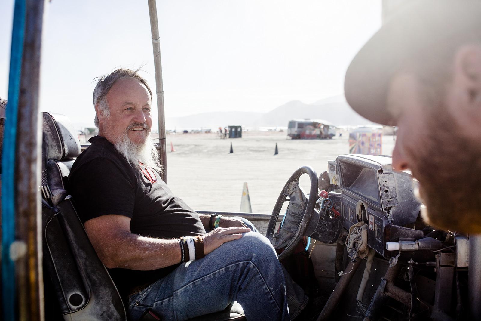 Burning Man - Art car driver
